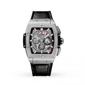 hublot spirit of big bang heren zilver 42mm horloge