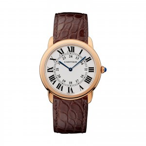 cartier ronde heren zilver 36mm horloge
