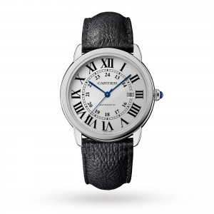 cartier ronde heren zilver 42mm horloge