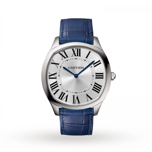 cartier drive heren zilver 38mm horloge