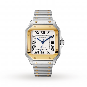 Cartier Santos heren zilver 35mm horloge