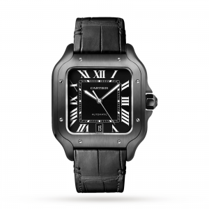 Cartier Santos heren zwart 40mm horloge