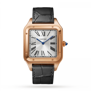 Cartier Dumont heren zilver 34mm horloge