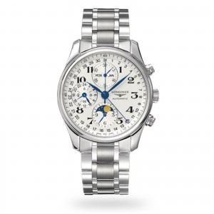 longines master collection heren wit 40mm horloge