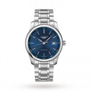 longines master collection heren blauw 40mm horloge