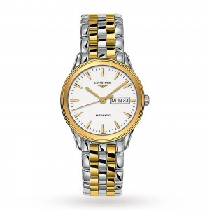 longines vlaggenschip heren wit 38.5mm horloge