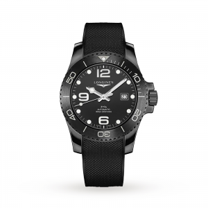 longines hydroconquest heren zwart 43mm horloge