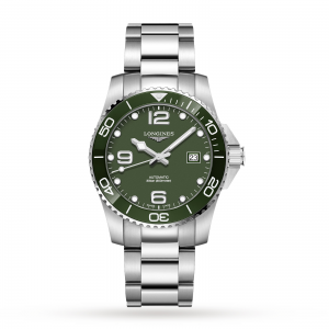 longines hydroconquest heren groen 41mm horloge