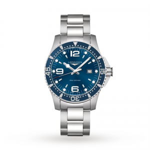 longines hydroconquest heren blauw 44mm horloge