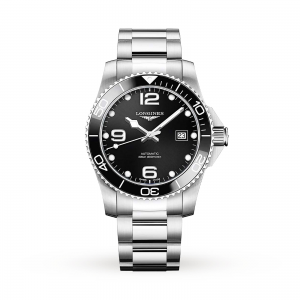 longines hydroconquest heren zwart 41mm horloge