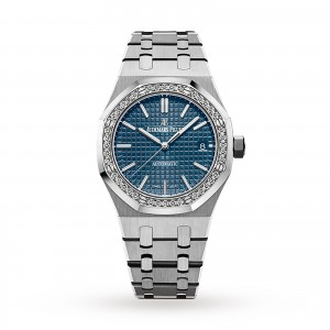 audemars piguet royal oak dames blauw 37mm horloge