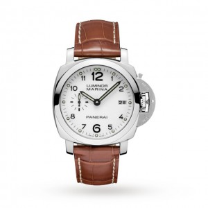 panerai luminor heren wit 42mm horloge