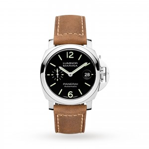 panerai luminor heren zwart 40mm horloge