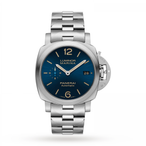 panerai luminor heren blauw 42mm horloge