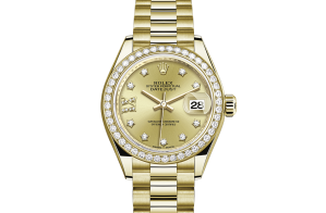 Rolex Lady-Datejust Oyster 28 mm geelgoud en diamanten 279138rbr-0006
