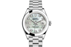 Rolex Lady-Datejust Oyster 28 mm platina 279166-0008