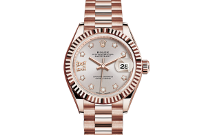 Rolex Lady-Datejust Oyster 28 mm Everose goud 279175-0005