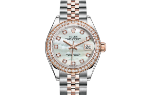 Rolex Lady-Datejust Oyster 28 mm Oystersteel Everose-goud en diamanten 279381rbr-0013
