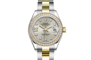 Rolex Lady-Datejust Oyster 28 mm Oystersteel-geelgoud en diamanten 279383rbr-0004